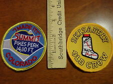 SKIING PATCHES WHITE MOUNTAINS  PIKES PEAK   COLORADO ROCKIES CROSS COUNTY