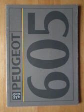 Peugeot 605 Gama 1992 Orig mercado finlandés Prestige Folleto-SV 24 3.0 Sr