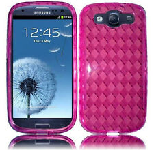 For Samsung Galaxy S III S3 TPU CANDY Gel Flexi Skin Case Phone Cover Plaid