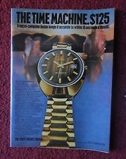 1972 Print Ad Timex Quartz Watch Watches ~ Time Machine w/ Micro-Computer Inside