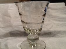 Tiffin Swedish Optic Clear Glass Vase*** Vintage **** Perfect 7in tall