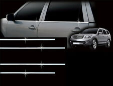Chrome Window Door Belt Molding 4Pcs 1Set  For Kia Borrego Mohave 2009 2015