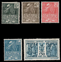 France #258-262 MLH CV$58.15 1930-1931 Colonial Expo Set [STOCK IMAGE]