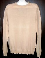Luck in Luck Beige Cotton Men's Italy Sweater Shirt Size 2XL NEW