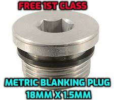 18mm X 1.5mm Llave Allen Métrico Macho hidráulico Cabeza De Zócalo Enchufe de supresión de acero
