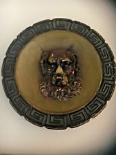RARE ANTIQUE 19TH CENTURY AUSTRIA DOG STATUS IN A CIRCLED PLATE-MARKED