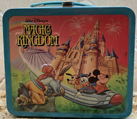 1979 Walt Disney's Magic Kingdom Wonderful World 3-D Metal Lunch Box W/ Thermos