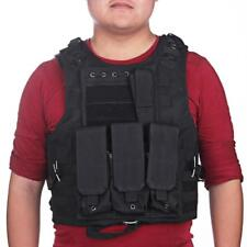 ilitary Tactical Molle Hunting Paintball Vest Plate Carrier Blac