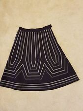Soft surroundings skirt size M, buckingham 22769, aline, navy blue, lined.