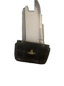 Vivienne Westwood  Bag Frilly snake double chain bag Black