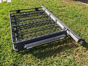 Jeep Grand Cherokee WK2 Roof Rack Cage with Light Bar and Awning
