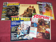 Lot of 5 Star Wars Starlog Cinefex Cinescape Science Fiction Movie Film Toyshop