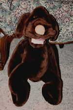 "Vintage GANZ BROS Plush Puppet WRINKLES Brown Dog Heritage Collection 17""  #X2"