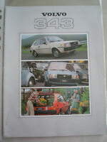 Volvo 343 range brochure 1979