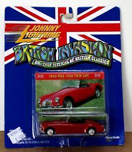 Johnny Lightning 1960 MGA 1500 Twin cam 1:50 Red MOC British Invasion