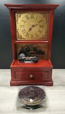 Rare Working Mr Christmas Symphonium Wood Clock With 10 Song Discs!
