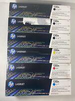 SET Of 6 Genuine HP Laserjet 130A TONER CARTRIDGE CF350A CF351A CF352A CF353A