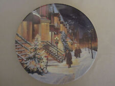 A Christmas Snowfall collector plate Christmas In The City #1 Andris Leimanis