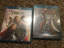 Thor 1 and Thor 2 The Dark World Blu-Ray Bundle 12 Free Shipping!