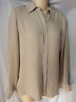 VINCE SILK LIGHT GRAY  LOOSE FIT BLOUSE SHIRT TUNIC  2