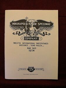 REPRINT OF THE OFFICIAL PROGRAM FOR THE 1924 INDY 500