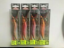 Berkley Quality Fishing Squid Lures Jigs Dragon 15g Red Orange Blue Pink