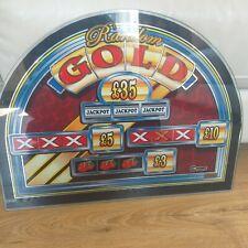 More details for concept games random gold fruit slot machine glass screen art man cave retro