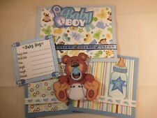 BABY BOY 3D PAPER PIECING  SCRAPBOOK PAGE MAT SET