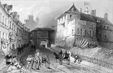 QUÉBEC (Nouvelle France) - LA PORTE PRESCOTT en 1840 - Gravure du 19e siècle