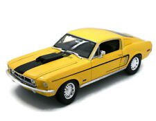 1968 Ford Mustang GT Cobra Jet MAISTO SPECIAL EDITION Diecast 1:18 Scale Yellow