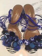 Aquazzura Tropicana sandal Size 38.5 Multi Blue