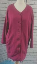 Seasalt Cornwall Chroma Coat - UK Size 14 Deep Pink Hemp/Cotton Arty Festival