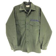 Vtg 70s Vietnam Era OG-507 US Air Uniform Utility Shirt Military 14.5 x 33 S2B