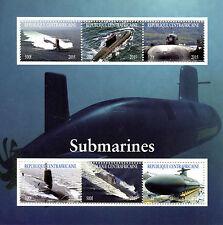 República Centroafricana 2015 estampillada sin montar o nunca montada submarinos 6v M/S Barcos Buques sellos