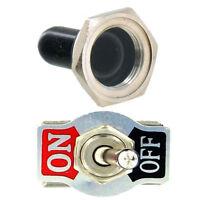 15A 250V 2-Polig Kippschalter Metall Schalter EIN/AUS Wasserdicht Schutzkappe