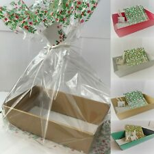 HAMPER GIFT BOXES DIY KIT CHRISTMAS Gift Sweet Tray Cardboard SILVER GOLD RED