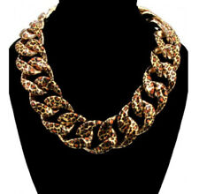 Urban Glam Gold Leopard Chain Choker Necklace