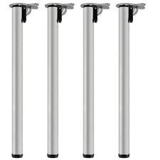 4x Set Piedi Gambe per Tavolo Pieghevole Regolabile Acciaio Ø 50 mm 710mm V2Aox