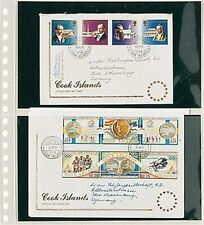 10 Lindner 821P Housses Transparentes Briefehüllen 2x 240x140mm+ Noir