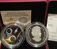 1868-2018 Meteorite Spirit Royal Astronomical Society Canada $20 1OZ Silver Coin