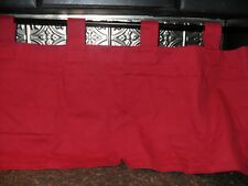 "Dark Red VALANCE by Woolrich 14.5"" x 52"" Curtain Window Treatment 100% Cotton"