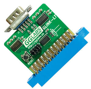 GGLABS GLINK-LT Commodore 64/128 User Port RS232 VIC-1011 clone with UP9600 mods