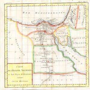 1788 Nice Brion de la Tour Map of Egypt
