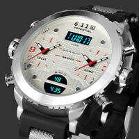 Men's Military Watch Quartz Digital Analog Date Display Multifunction Waterproof