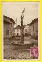 CPA RARE France 69 - LARAJASSE L'AUBÉPIN La FONTAINE Statue de Jeanne d'Arc
