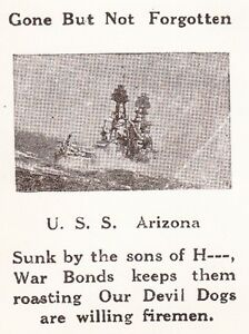 WWII Patriotic USS Arizona Gone Not Forgotten Sons of Hell Syracuse '44 Cover 7z