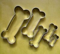 5 size Dog Bone Biscuit Cookie Cutter Set Fondant Pastry Steel Baking mold