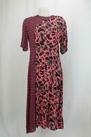 Paul Smith Pink Fox Print Paneled Dress Size UK 14 / EU 42 / US 10