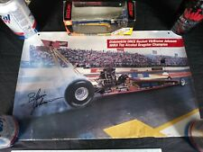 Vintage Autographed Blaine Johnson Calendar & Action 1996 Dragster Racing Collec