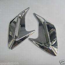 Car Chrome #VA11 Air Intake Flow Vent Fender Decoration Side Hood Cover Badge